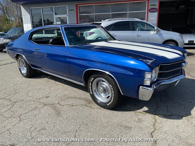 1971 Chevrolet Chevelle V8 Turbo Transmission Dual Exhaust Solid