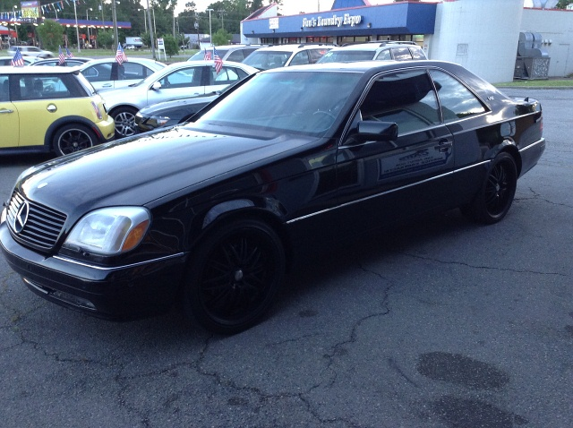 1997 Mercedes Benz S-Class S500 coupe Luxury Black on Black Rare Car
