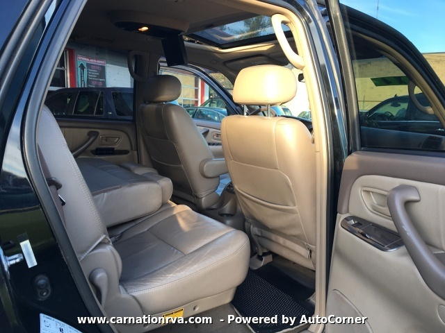 2002 Toyota Sequoia Limited 4WD 3rd Row Seat Leather Sunroof A