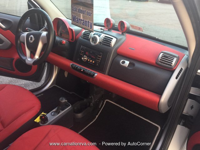 2009 Smart Fortwo BRABUS Super Gas Saver Cool Red Interior