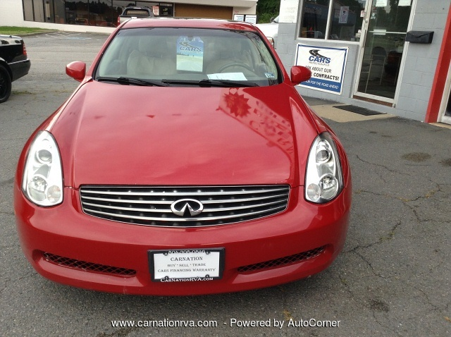 2006 Infiniti G35 Coupe 6MT 6-Speed Exhaust TV/DVD/Bluetooth