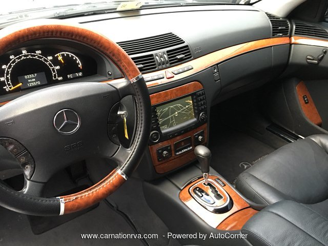 2005 Mercedes Benz S-Class S430 Black on Black Leather Sunroof